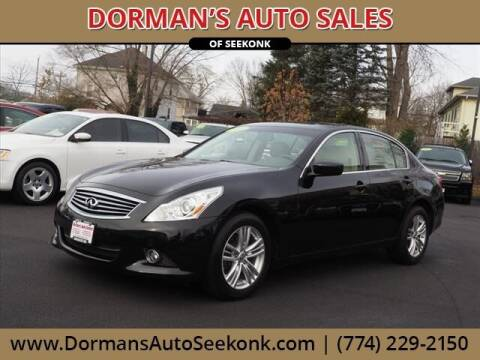 2012 Infiniti G37 Sedan for sale at DORMANS AUTO CENTER OF SEEKONK in Seekonk MA