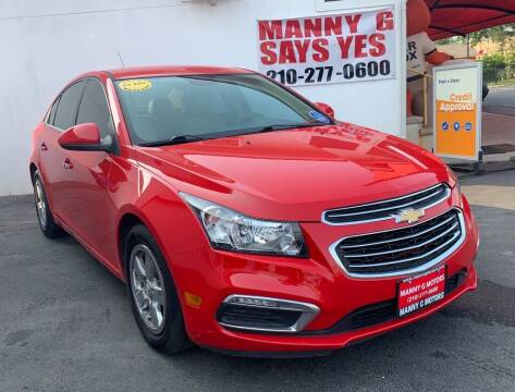 2016 Chevrolet Cruze Limited for sale at Manny G Motors in San Antonio TX