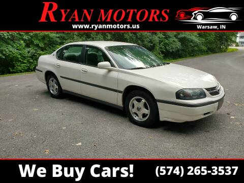 2004 Chevrolet Impala for sale at Ryan Motors LLC in Warsaw IN