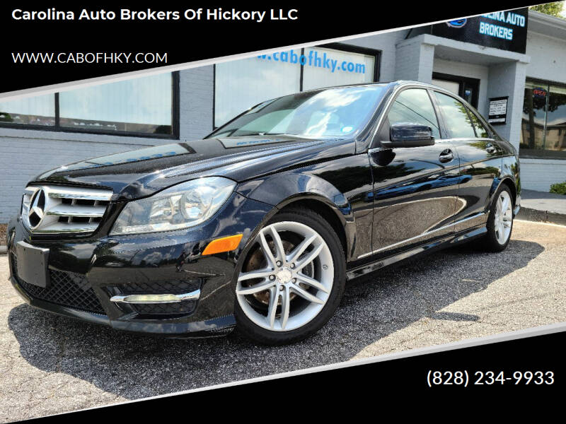 2013 Mercedes-Benz C-Class for sale at Carolina Auto Brokers of Hickory LLC in Newton NC