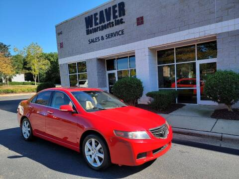 2004 Acura TSX for sale at Weaver Motorsports Inc in Cary NC