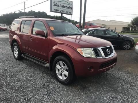 2008 Nissan Pathfinder for sale at J & D Auto Sales in Dalton GA