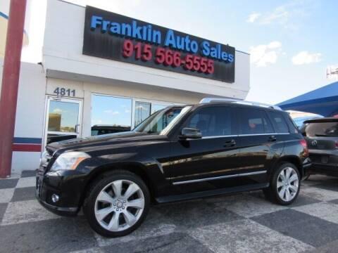 2010 Mercedes-Benz GLK for sale at Franklin Auto Sales in El Paso TX