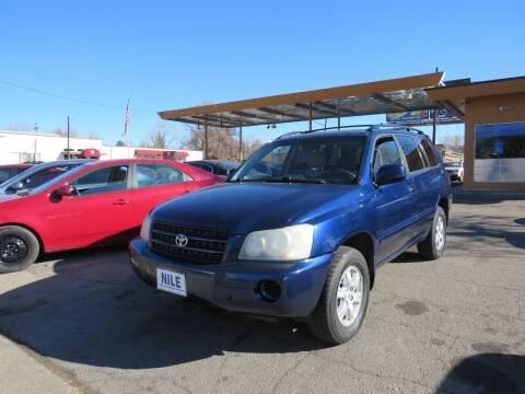 2003 Toyota Highlander for sale at Nile Auto Sales in Denver CO