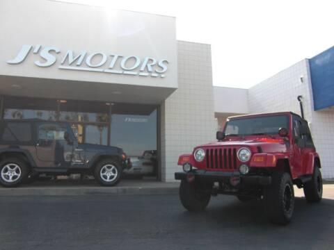 2000 Jeep Wrangler for sale at J'S MOTORS in San Diego CA