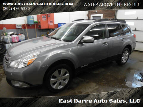 2010 Subaru Outback for sale at East Barre Auto Sales, LLC in East Barre VT