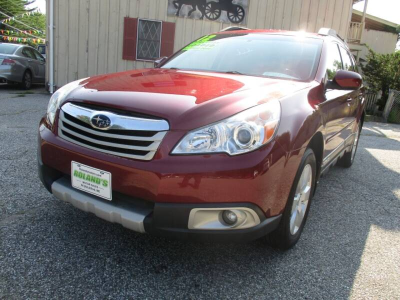 2012 Subaru Outback for sale at Roland's Motor Sales in Alfred ME