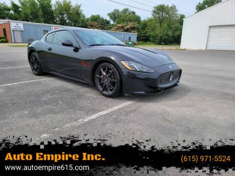 2015 Maserati GranTurismo for sale at Auto Empire Inc. in Murfreesboro TN