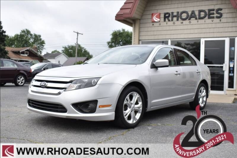 2012 Ford Fusion for sale at Rhoades Automotive in Columbia City IN