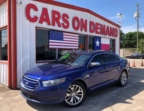 2013 Ford Taurus for sale at Cars On Demand 2 in Pasadena TX