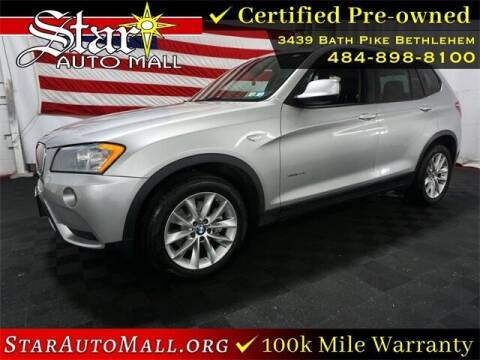 2014 BMW X3 for sale at STAR AUTO MALL 512 in Bethlehem PA