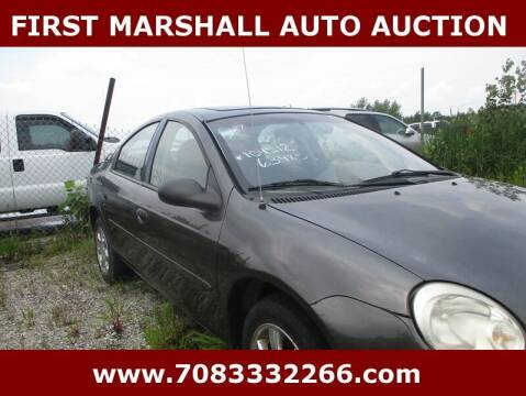 2004 Dodge Neon for sale at First Marshall Auto Auction in Harvey IL