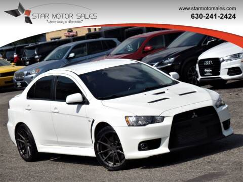 2013 Mitsubishi Lancer Evolution for sale at Star Motor Sales in Downers Grove IL