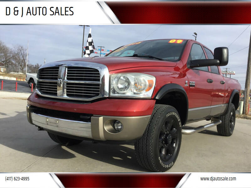 2009 Dodge Ram Pickup 3500 for sale at D & J AUTO SALES in Joplin MO