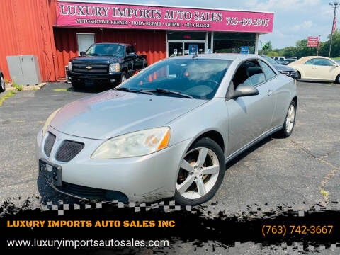 2008 Pontiac G6 for sale at LUXURY IMPORTS AUTO SALES INC in North Branch MN