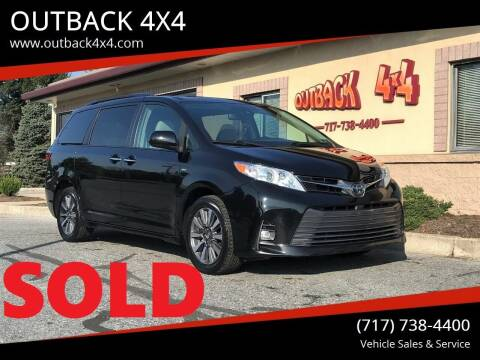 2018 Toyota Sienna for sale at OUTBACK 4X4 in Ephrata PA