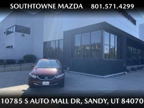 2015 Honda Civic for sale at Southtowne Mazda of Sandy in Sandy UT