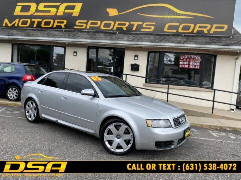 2005 Audi S4 for sale at DSA Motor Sports Corp in Commack NY