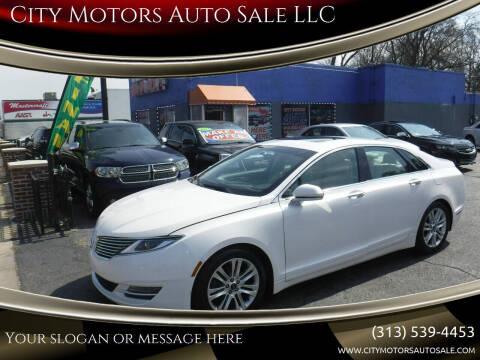 2014 Lincoln MKZ for sale at City Motors Auto Sale LLC in Redford MI