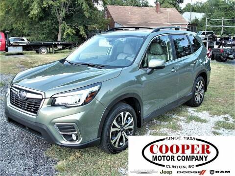 2020 Subaru Forester for sale at Cooper Motor Company in Clinton SC