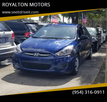2017 Hyundai Accent for sale at ROYALTON MOTORS in Plantation FL