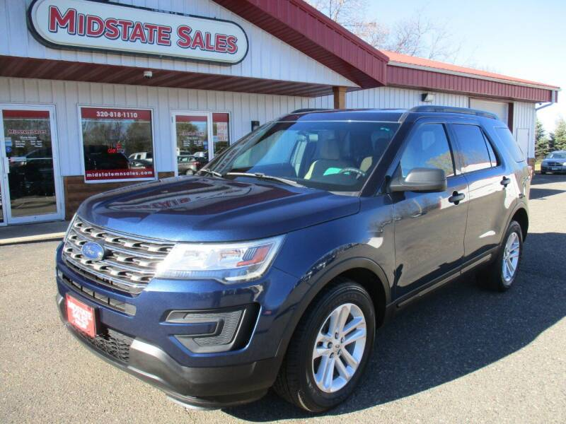2016 Ford Explorer for sale at Midstate Sales in Foley MN