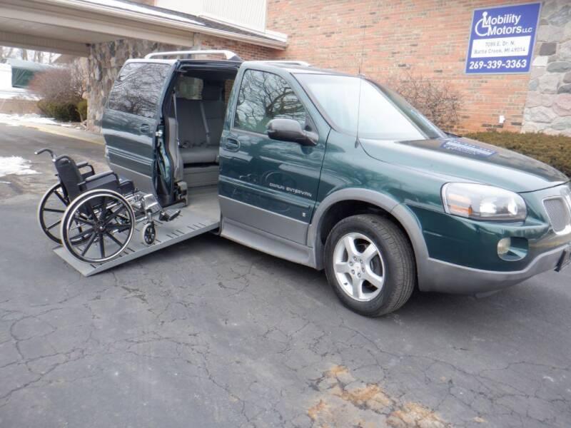 2006 Pontiac Montana SV6 for sale at Mobility Motors LLC - A Wheelchair Van in Battle Creek MI