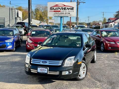 2008 Ford Fusion for sale at Supreme Auto Sales in Chesapeake VA
