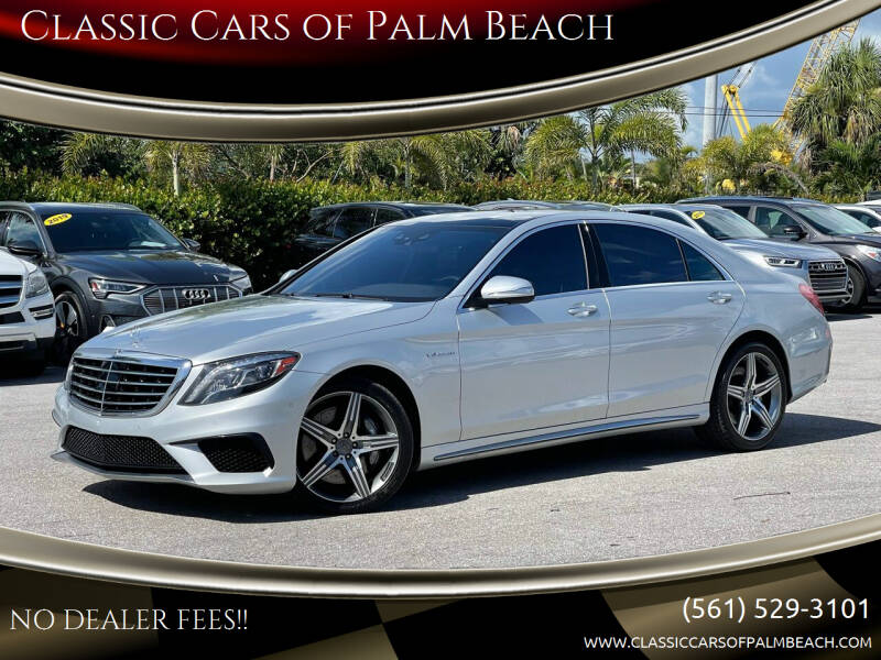 2015 Mercedes-Benz S-Class for sale at Classic Cars of Palm Beach in Jupiter FL