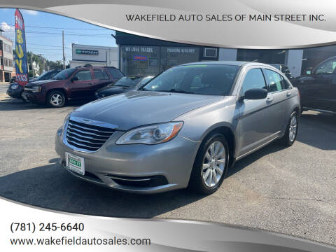 2014 Chrysler 200 for sale at Wakefield Auto Sales of Main Street Inc. in Wakefield MA