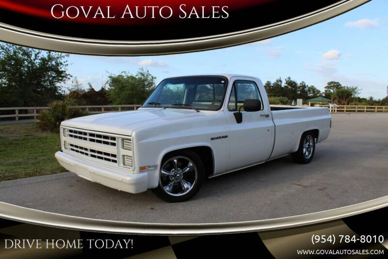 1987 Chevrolet R/V 10 Series for sale at Goval Auto Sales in Pompano Beach FL