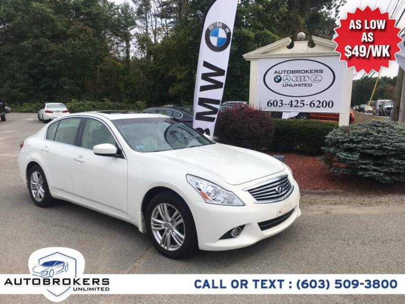2013 Infiniti G37 Sedan for sale at Auto Brokers Unlimited in Derry NH