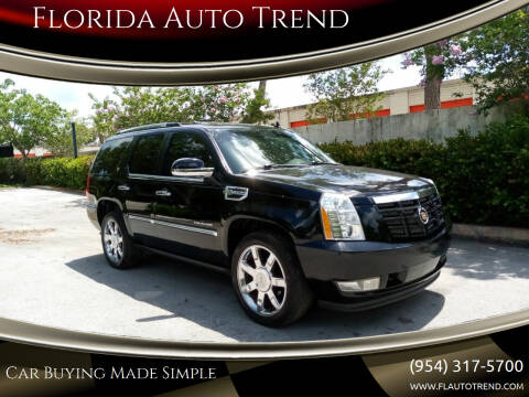 2012 Cadillac Escalade Hybrid for sale at Florida Auto Trend in Plantation FL
