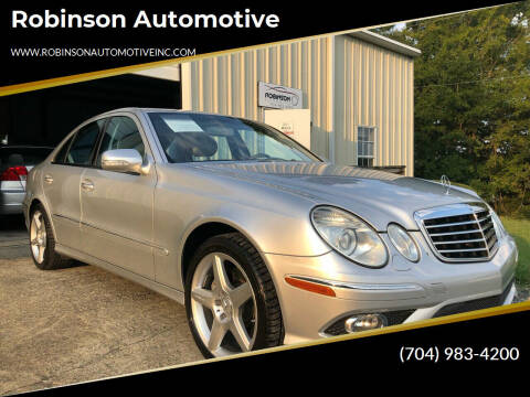 2009 Mercedes-Benz E-Class for sale at Robinson Automotive in Albemarle NC