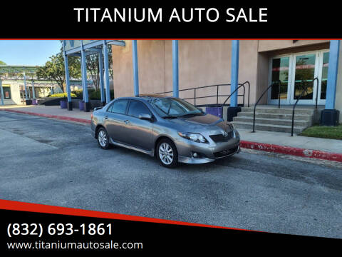 2010 Toyota Corolla for sale at TITANIUM AUTO SALE in Houston TX