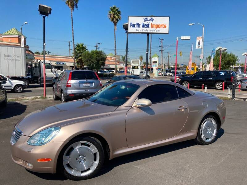 2003 Lexus SC 430 for sale at Pacific West Imports in Los Angeles CA