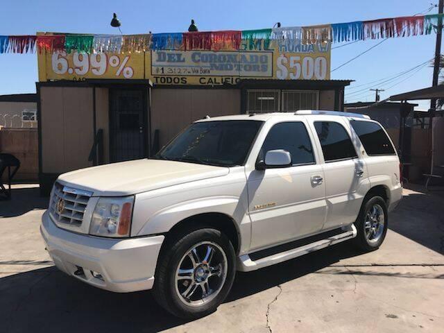 2005 Cadillac Escalade for sale at DEL CORONADO MOTORS in Phoenix AZ