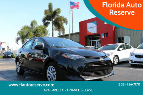 2019 Toyota Corolla for sale at Florida Auto Reserve in Medley FL