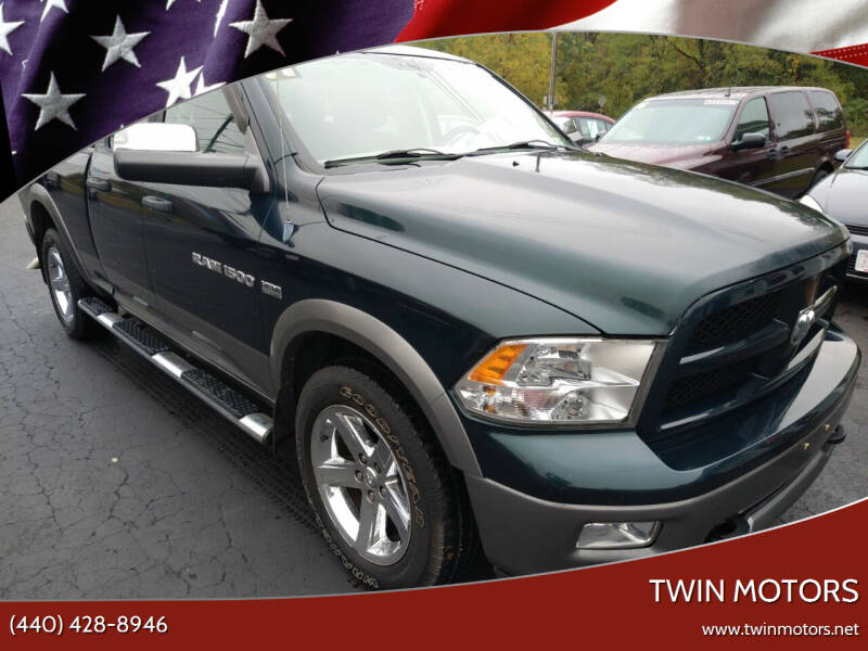 2011 RAM Ram Pickup 1500 for sale at TWIN MOTORS in Madison OH