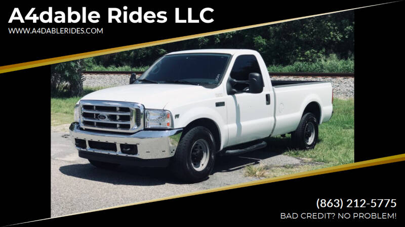 2001 Ford F-250 Super Duty for sale at A4dable Rides LLC in Haines City FL