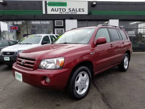 2006 Toyota Highlander for sale at Wakefield Auto Sales of Main Street Inc. in Wakefield MA