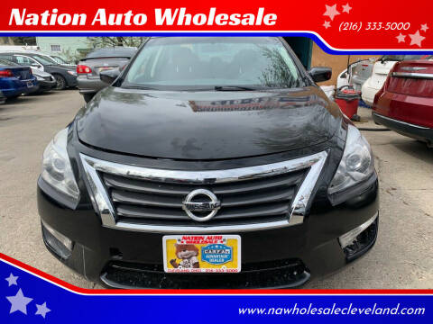 2014 Nissan Altima for sale at Nation Auto Wholesale in Cleveland OH