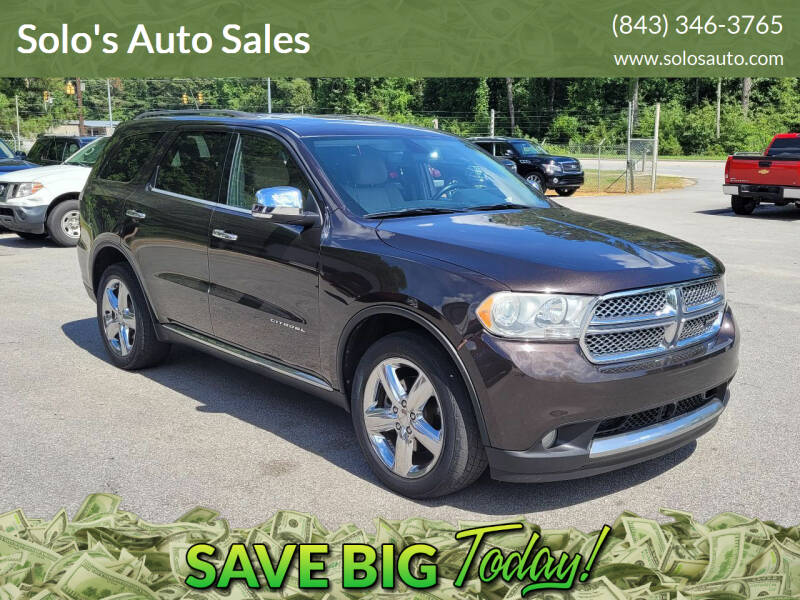 2012 Dodge Durango for sale at Solo's Auto Sales in Timmonsville SC