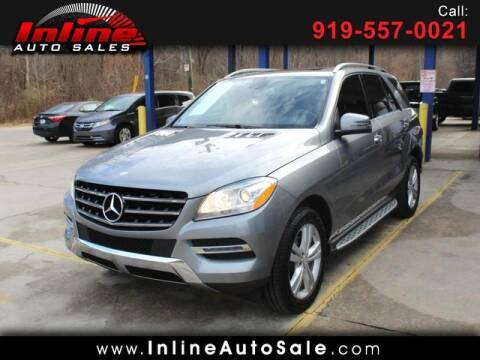 2013 Mercedes-Benz M-Class for sale at Inline Auto Sales in Fuquay Varina NC