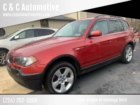 2005 BMW X3 for sale at C & C Automotive in Chicora PA