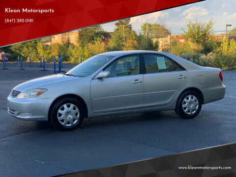 2004 Toyota Camry for sale at Klean Motorsports in Skokie IL