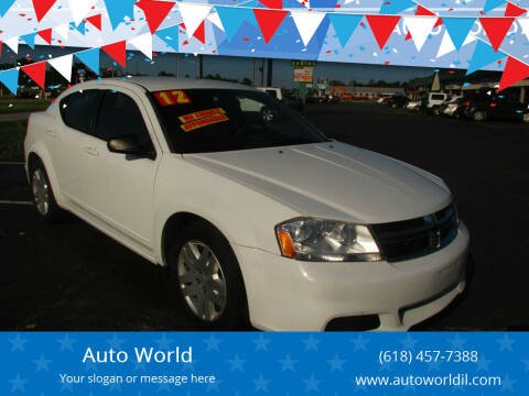 2012 Dodge Avenger for sale at Auto World in Carbondale IL