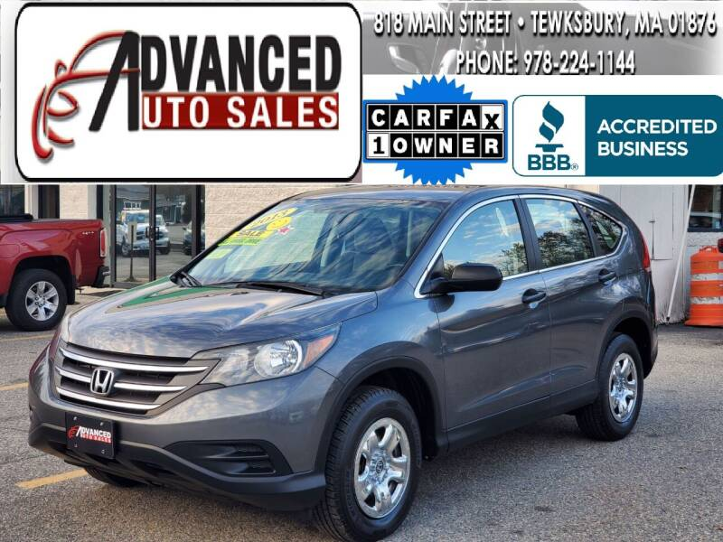 2013 Honda CR-V for sale at Advanced Auto Sales in Tewksbury MA