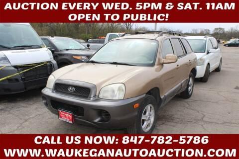 2004 Hyundai Santa Fe for sale at Waukegan Auto Auction in Waukegan IL
