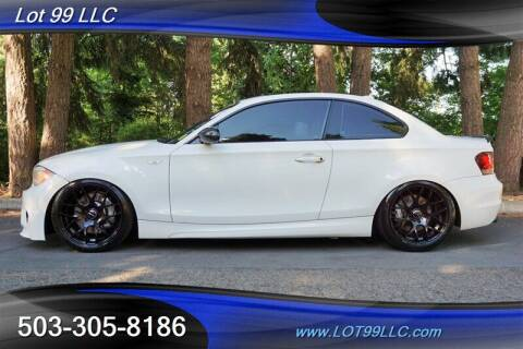 2012 BMW 1 Series for sale at LOT 99 LLC in Milwaukie OR